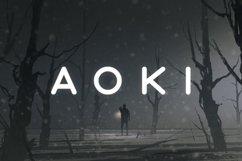 Aoki Typeface Product Image 1