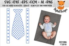 Birthday Polka Dot Tie SVG - Silhouette - Cricut Product Image 1