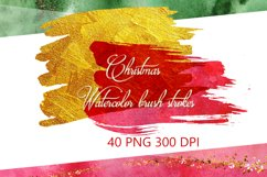 Christmas Watercolor Brushstrokes png,Abstract Christmas Product Image 1