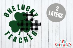 St. Patrick's Day SVG | One Lucky Teacher | Shirt Design Product Image 2