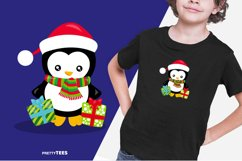 Baby Penguin Giftbox T-Shirt Design | Sublimation T-Shirt Product Image 2