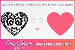LEXI & LEVI THE LOVE HEARTS SVG 5 MANDALA ZENTANGLE DESIGNS Product Image 3