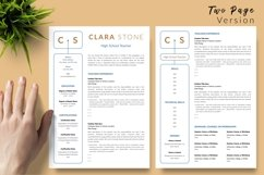 Teacher Resume CV Template for Word & Pages Clara Stone Product Image 3