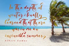 With Summer // Script Font Product Image 2