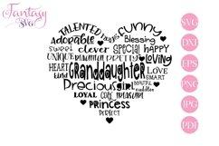 Granddaughter Word Art - Svg Cut Files Product Image 1