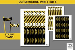 Construction birthday party printable decorations, party kit Product Image 3