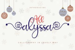 All Alyssa - Calligraphy Heart Accent Font Product Image 1