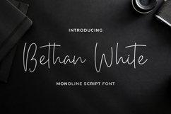 Bethan White - Monoline Script Font Product Image 1