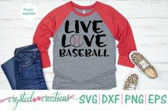 Live Love Baseball SVG, DXF, PNG, EPS Product Image 2