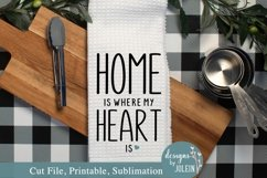Home is where my heart is SVG, Sublimation, Printable Product Image 3