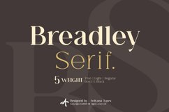 Breadley Serif Product Image 1