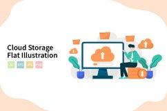 Cloud Storage Flat Vector Illustration Product Image 1