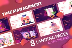 Time management. Landing page headers Product Image 1