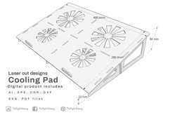 Cooling Pad - laser cutting file Product Image 3