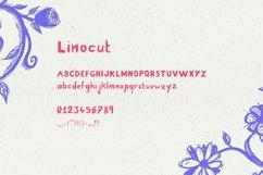 Linocut Handwritten Script Font Kid Craft Typeface Engraved Product Image 4
