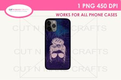 Messy Bun Galaxy Sublimation Phone case Template Product Image 1