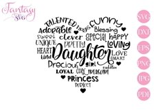 Daughter Word Art - Svg Cut Files Product Image 1