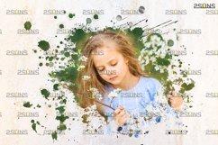 Watercolor portrait paint masks, photo frame, Photoshop Product Image 4