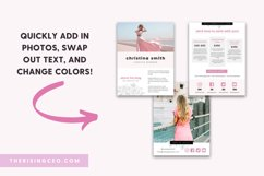 Pink Blush Floral 3-Page Blogger Media Kit Canva Template Product Image 3