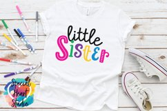 Little Sister - A family and sibling SVG Product Image 1