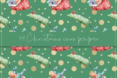 Christmas cars digital paper, seamless pattern Product Image 3