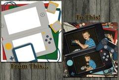 Play Hard Gaming Themed Digital Scrapbooking Templates Product Image 4