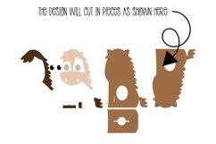 Horse egg holder design SVG / DXF / EPS files. Product Image 2