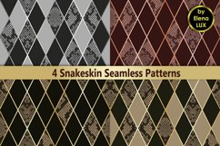 Snakeskin Seamless Patterns Set Product Image 1