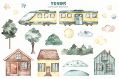 Transport bundle. Watercolor Product Image 20