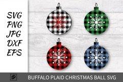 Buffalo Plaid Christmas ball SVG, Buffalo Plaid PNG DXF EPS Product Image 1