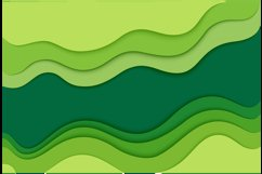 Abstract design background with green and blue cut paper Product Image 3