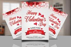 Happy Valentines Flyer Product Image 1