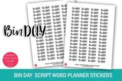 Bin Day Script Words Planner Stickers- BIn Day Stickers Product Image 1