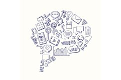 Vector social media hand drawn elements gathered in form of Product Image 1