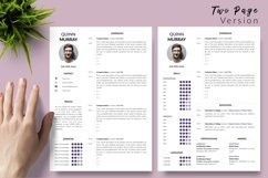 Modern Resume CV Template for Word & Pages Quinn Murray Product Image 3