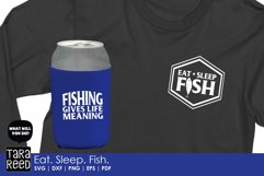 Eat Sleep Fish - Fishing SVG and Cut Files for Crafters Product Image 3