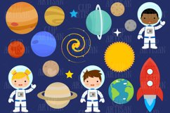 Astronaut Clipart, Space, Planets, Rocket Product Image 1