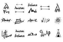 Wild. Travel. 16 Doodle style illustration. Product Image 3