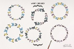 Butterfly 6 Wreath Watercolor Garlands Butterflies Spring Product Image 3