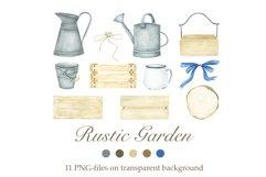 Watercolor Rustic Garden Product Image 1