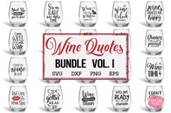 Wine Quotes Bundle SVG, EPS, DXF, PNG Product Image 1