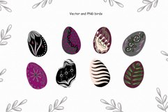 Birds vector collection, Spring Easter clipart, Summer leave Product Image 5
