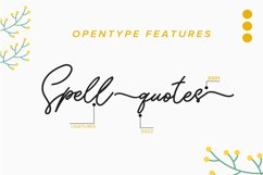 Sunflower   Freehand Signature Font Product Image 2