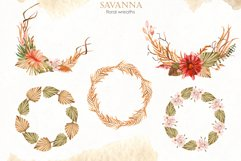 Savanna dried flowers and leaves Watercolor Product Image 13