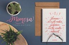 Web Font Mimosa Script Product Image 4
