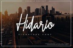 Hidario Signature Font Product Image 1