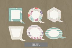 Diamond with Vintage Color Seamless Pattern Speech Bubbles Product Image 1