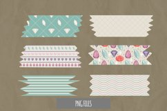 Diamond with Vintage Color Seamless Pattern Tape Product Image 1