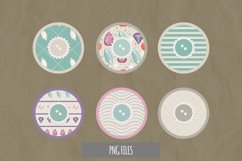 Diamond with Vintage Color Seamless Pattern with Buttons Product Image 1