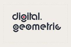 digital geometric font Product Image 1
